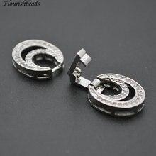 12x30 мм проложенные CZ бусины двойное ожерелье круглой формы ювелирные изделия с застежками 5 шт. в партии