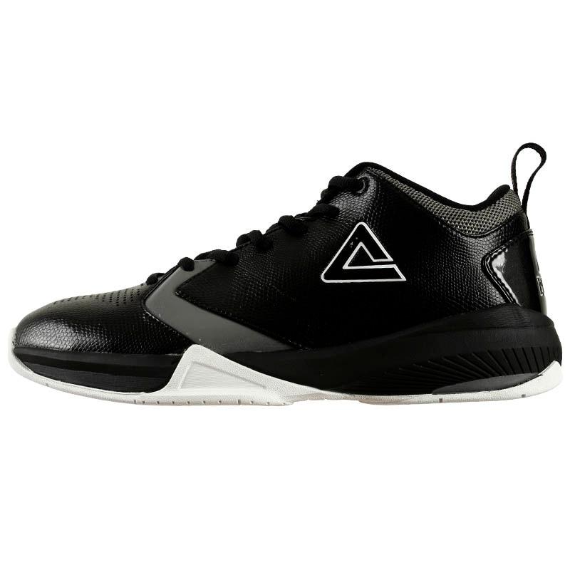 7ff3b2f98f921 PEAK Summer Classic Basketball Shoes Men Black Dk Grey Professional ...