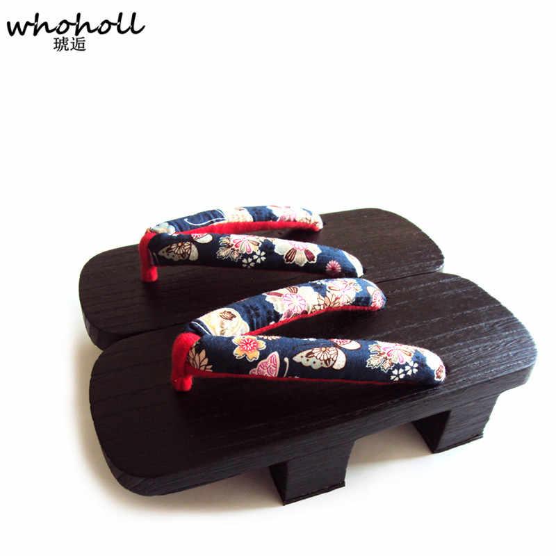 Women Maiko Geisha Kagamine Len Japanese Okobo Geta Clog Kimono Cosplay Shoes TQ