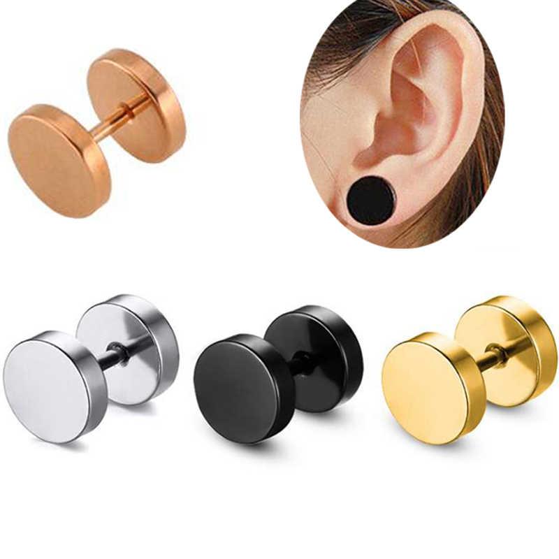 2 أجزاء/وحدة 16 جرام 1.2 ملليمتر روز الذهب الفولاذ المقاوم للصدأ الكرة القرط الحديد الزنمة القرط الأنف عصابة هيئة ثقب المجوهرات
