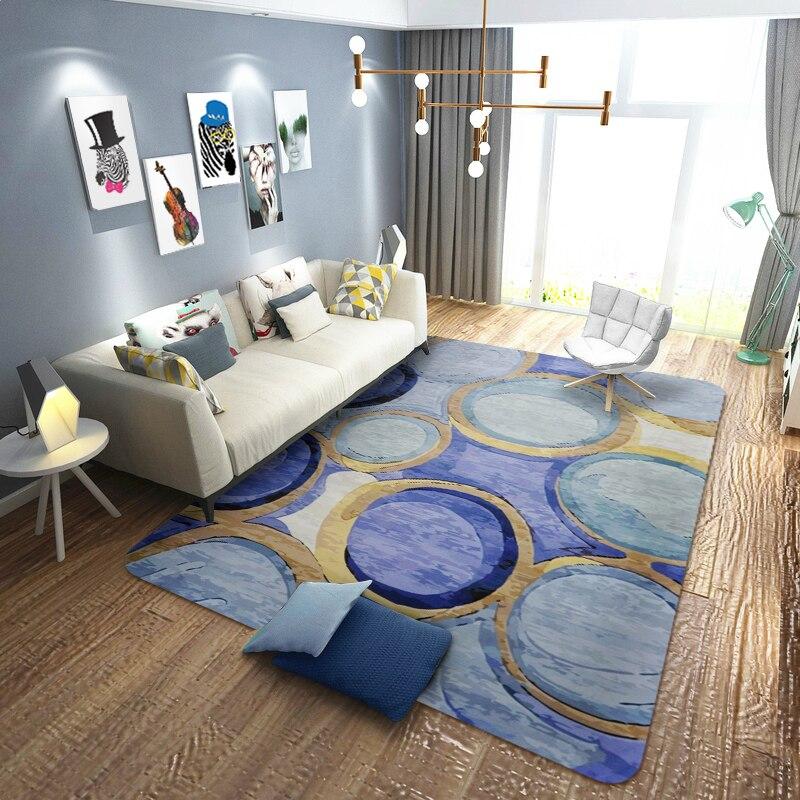 Géométrie nordique zone créative tapis pour salon chambre décor tapis doux pour la maison tapis de sol tapis chevet Rectangle tapis - 3