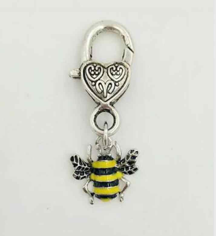 المينا الأصفر النحل جراد البحر قفل المفاتيح ل مفاتيح السيارة مفتاح حلقة حقيبة تذكارية الأزياء والمجوهرات للنساء والرجال