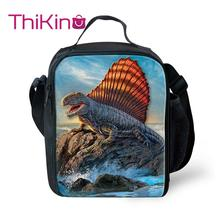 Thikin Animals Cooler Lunch Box Dinosaur Portable Insulated Bag Tote PouchThermal Food Picnic Bags For Women Kids