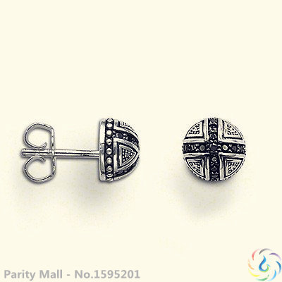 Black Cross Stud Earring Thomas Style Good Jewerly For Men & Women 2015 Ts Gift In silver-plated