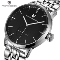 PAGAIN Design Luxury Brand Men S Watches Simple Fashion Full Steel Quartz Watch Dress Men Wristwatch