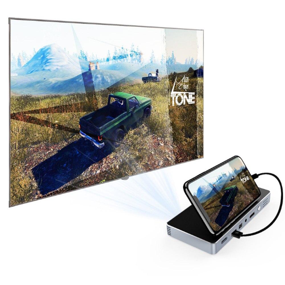 Mini projecteur Portable ménage intelligent DLP HD téléphone projecteur pour cinéma maison GDeals