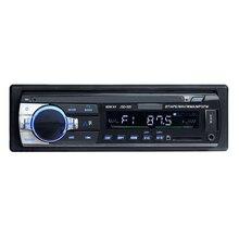 JSD 520 12V1Din coche MP3 reproductor BT WMA reproductor de audio tarjeta SD de memoria flash USB AUX en el transmisor de FM con Control remoto