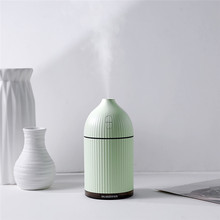 White 300ML Ultrasonic Air Humidifier for Home Aroma Essential Oil Diffuser Humidifiers Water Mist Maker with Colorful LED Light
