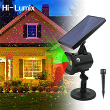 Hi-Lumix Solar Laser Light LED Projector Spotlights Red&Green Outdoor Christmas Lamp for Yard,Lawn Birthday Party dancing Disco