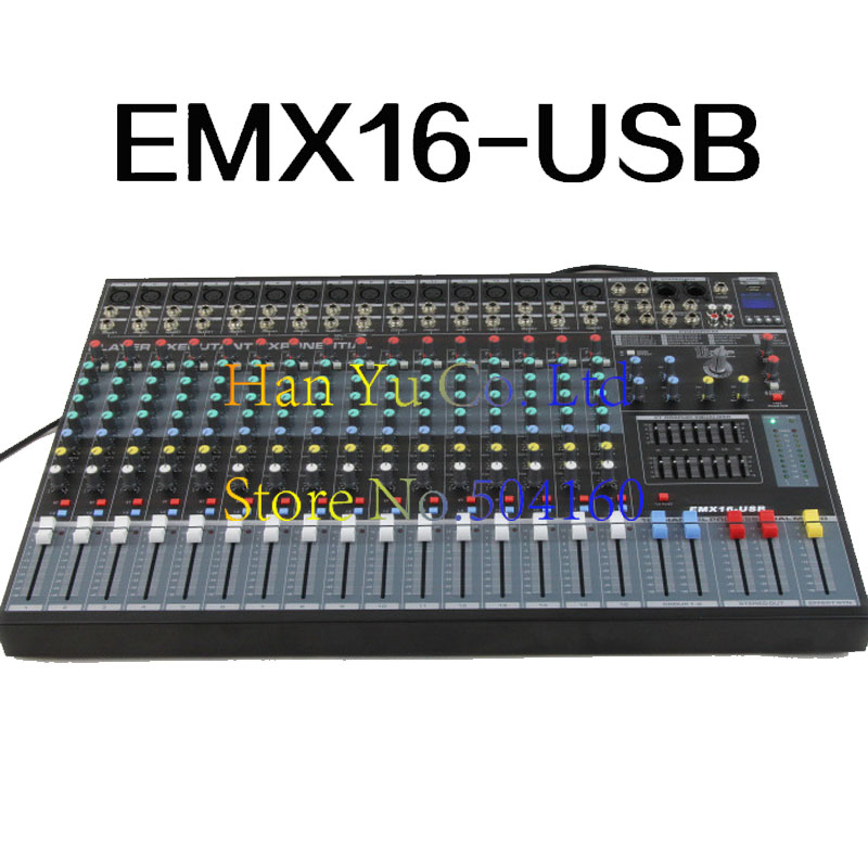 Professional 16 Channel Karaoke Audio Mixer Microphone Digital Sound Mixing Amplifier Console With USB 48V Phantom Power