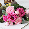 Rose Peony Artificial Silk Flowers Valentines Bouquet