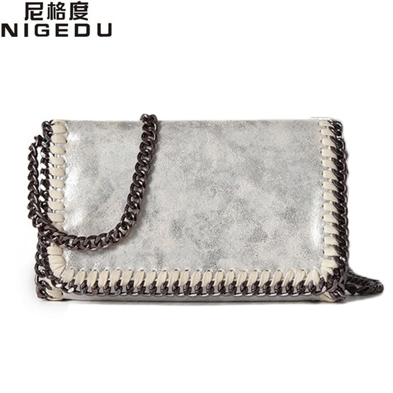 NIGEDU brand design Women Crossbody Bags Chain small Ladies Shoulder bag clutch bag bolsa feminina luxury evening bags Clutches vintage womens envelope clutch bag pu leather women shoulder messenger bag chain crossbody bags bolsa feminina women s clutches