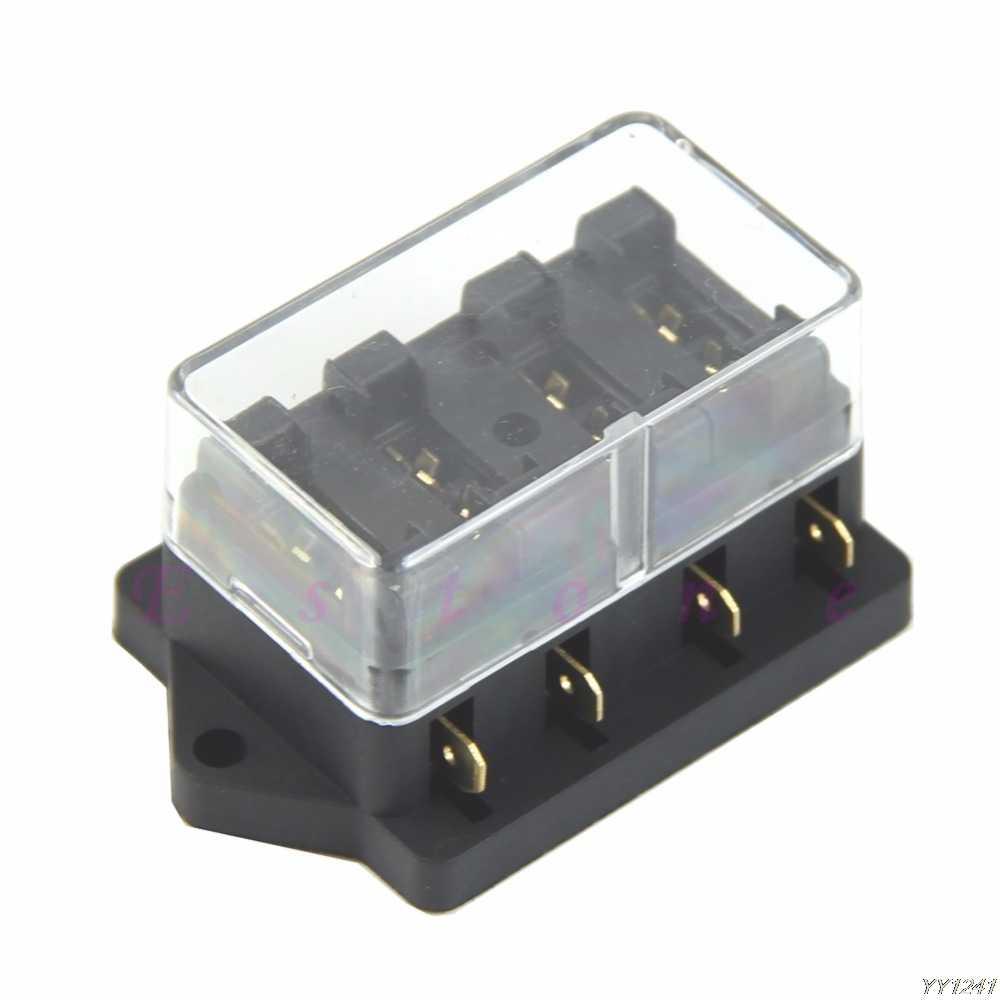 hight resolution of car accessory waterproof vehicle truck boat 6 way blade fuse box holder elegant