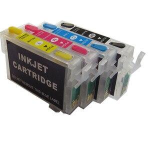Image 2 - Recharge kit dencre T1281 cartouche dencre rechargeable pour epson stylet SX430W SX435W SX438W SX440W SX445W bureau BX305F BX305FW imprimante