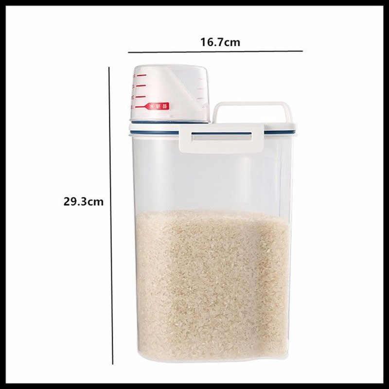 米国 1x キッチン食品穀物粒米プラスチック収納ケースコンテナ収納ボックス