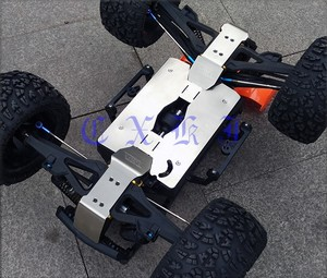 Защита шасси из нержавеющей стали HD, комплект противоскользящей пластины для Team Magic TM BES E6 E62 E63