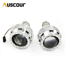 1 8inch Bixenon HID Headlight Projector Lens Mini Gatling Gun Projector Shrouds For Cars Motorcycle H7