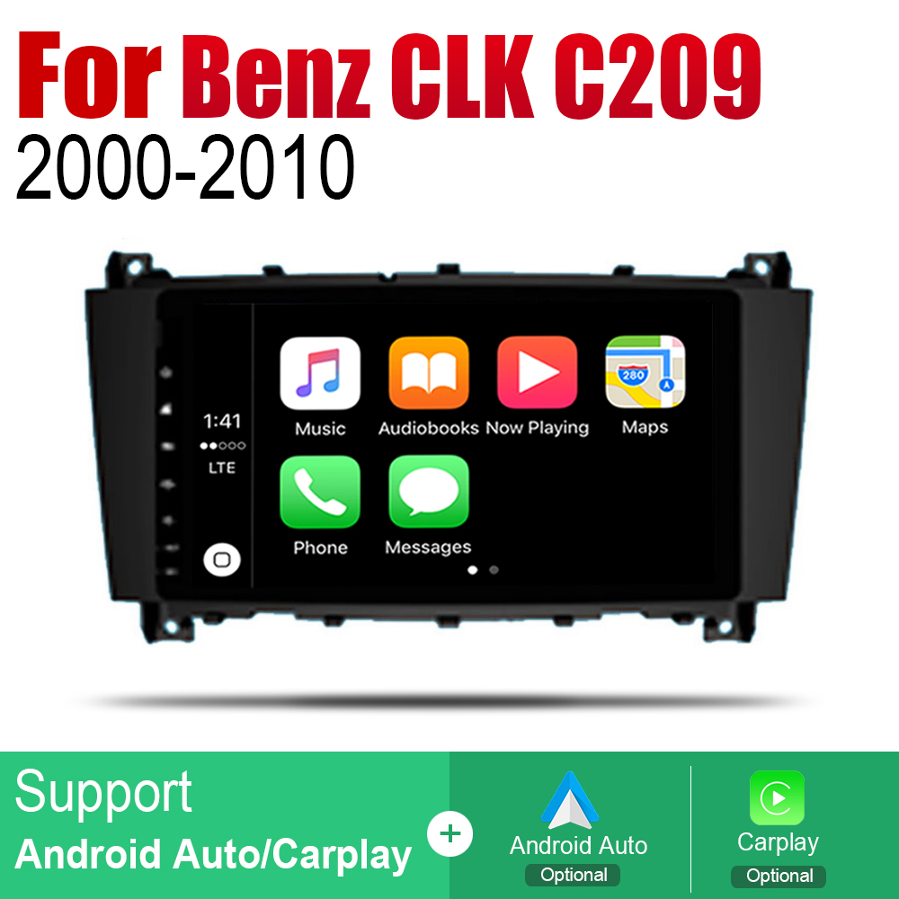 Auto Player GPS Navigation For Mercedes Benz CLK Class C209 A209 2000 2010 NTG Car Android Multimedia System Screen Radio Stereo in Car Multimedia Player from Automobiles Motorcycles