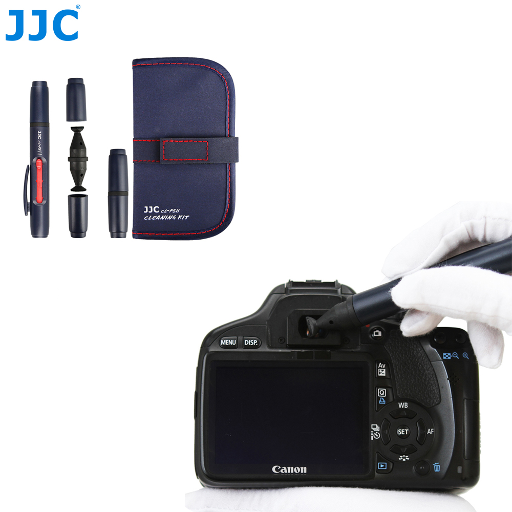 JJC Camera Lens Cleaning Pen Kit DSLR SLR Viewfinders Screens Filters Camcorders Clean Tool for Canon/Nikon/Sony/Pentax/Samsung micnova mq mb100 static electricity sensor 4 led light camera cleaning brush for canon nikon sony pentax slr lens cleaning pen