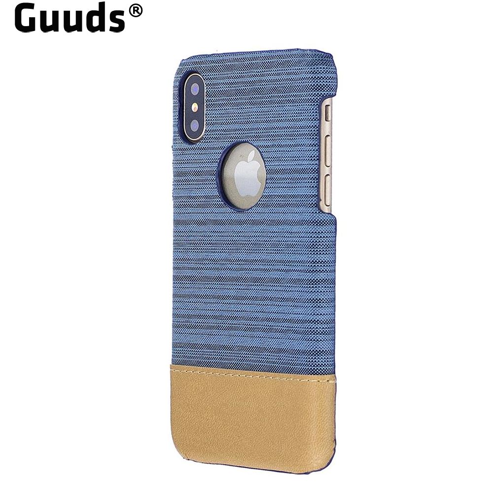 Guuds for iPhoneX Ten 10 Phone Case Canvas Cloth Coated Plastic Back Cover for iPhone X(5.8 inch) FREE SHIPPING