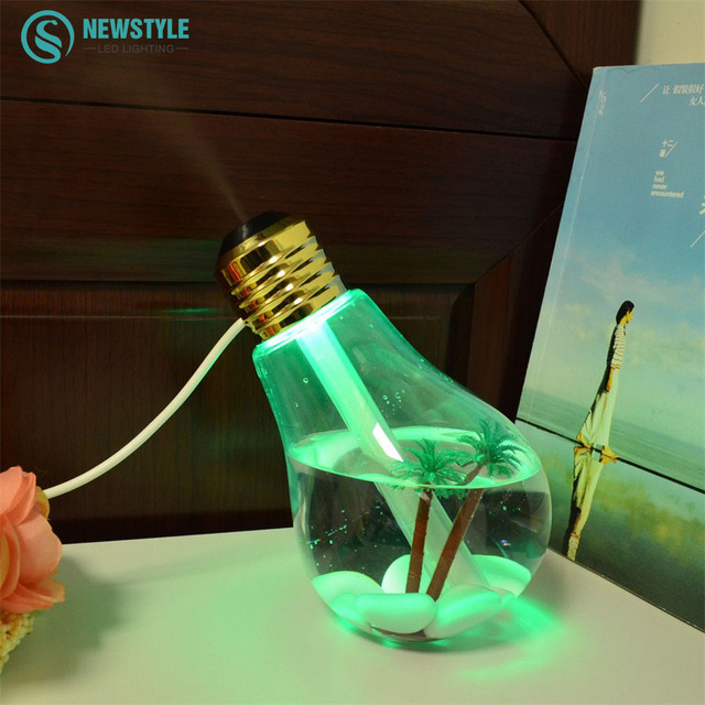 Mini bombilla HumidifierNight USB lámpara de luz DC 5 V Casa Difusor De Aire para la decoración del hogar oficina de coches