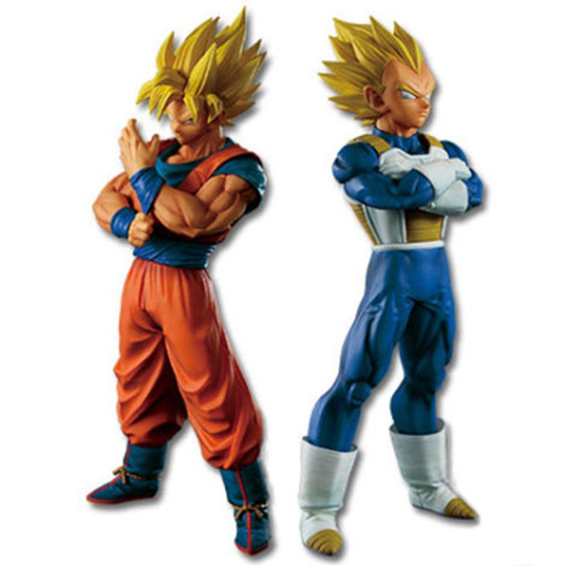 Chocolate Pvc Action Figure Dbz Brush Saiyan Blood 3 Styles Action & Toy Figures Flight Tracker 26cm Big Dragon Ball Z Goku Super Saiyan War Damage Ver