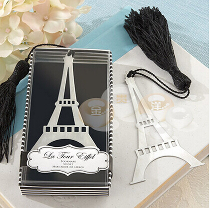 Aspiring Free Shipping Eiffel Tower Bookmark With Black Tassel Wedding Favor Gifts Baby Shower Birthday Party Souvenirs Gifts For Guests Event & Party