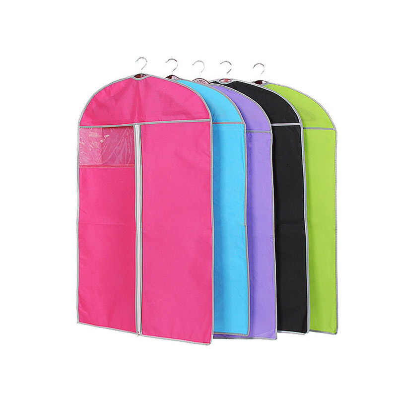 Fashion Multicolor  Non Woven Cover Dustproof Protector Bag  Suit Coat Dress Jacket Garment Cover Wardrobe Storage Bag