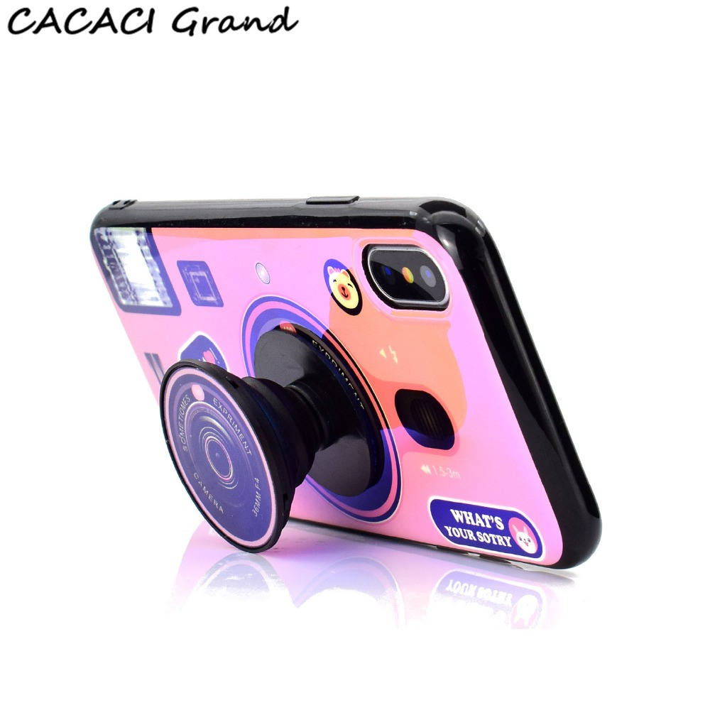 for iphone 5 5S SE 5 s case Blu-ray Cute Camera Holder Soft TPU Phone Case For iPhone X XS XR MAX 7 8 6 6S Plus Silicone Cover