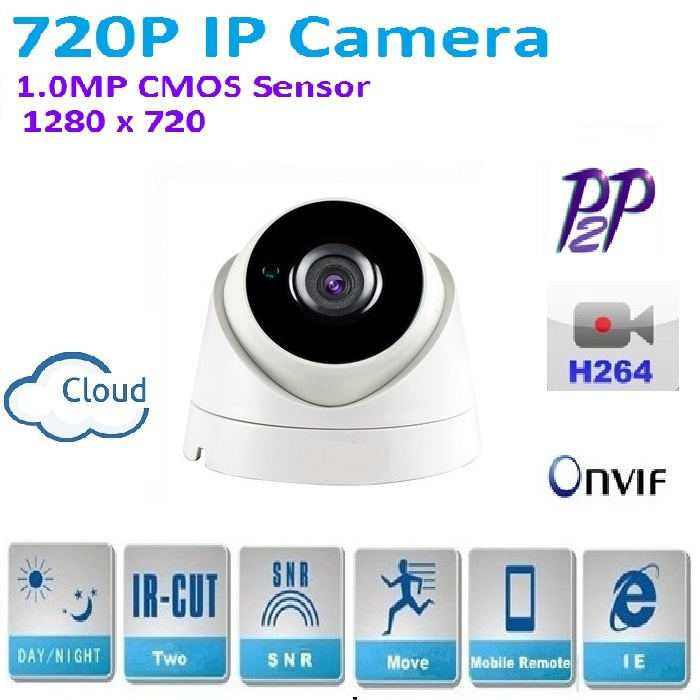 New Type 1280*720P 1.0MP Mini Dome 720P IP Camera indoor ONVIF H.264 P2P Indoor IR CUT Night Vision Easy Plug and Play, hiseeu 720p 1 0mp 960p 1 3mp family mini dome security ip camera onvif 2 0 indoor ir cut night vision p2p plug and play