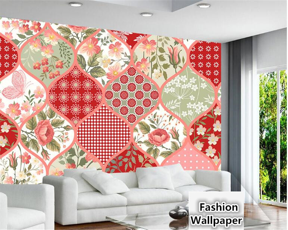 Most Inspiring Wallpaper Marble Collage - beibehang-Senior-decorative-painting-aesthetic-wallpaper-Plaid-red-small-floral-style-collage-background-3d-wallpaper-tapety  HD_446960.jpg