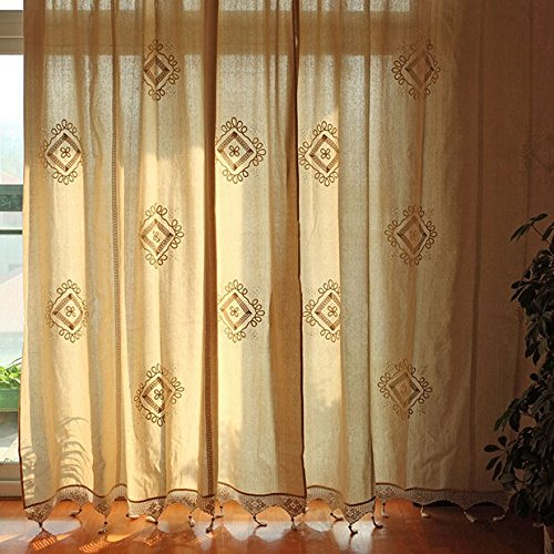Greece Style Hollow Out Curtains 100 Cotton For Living Room Bedroom