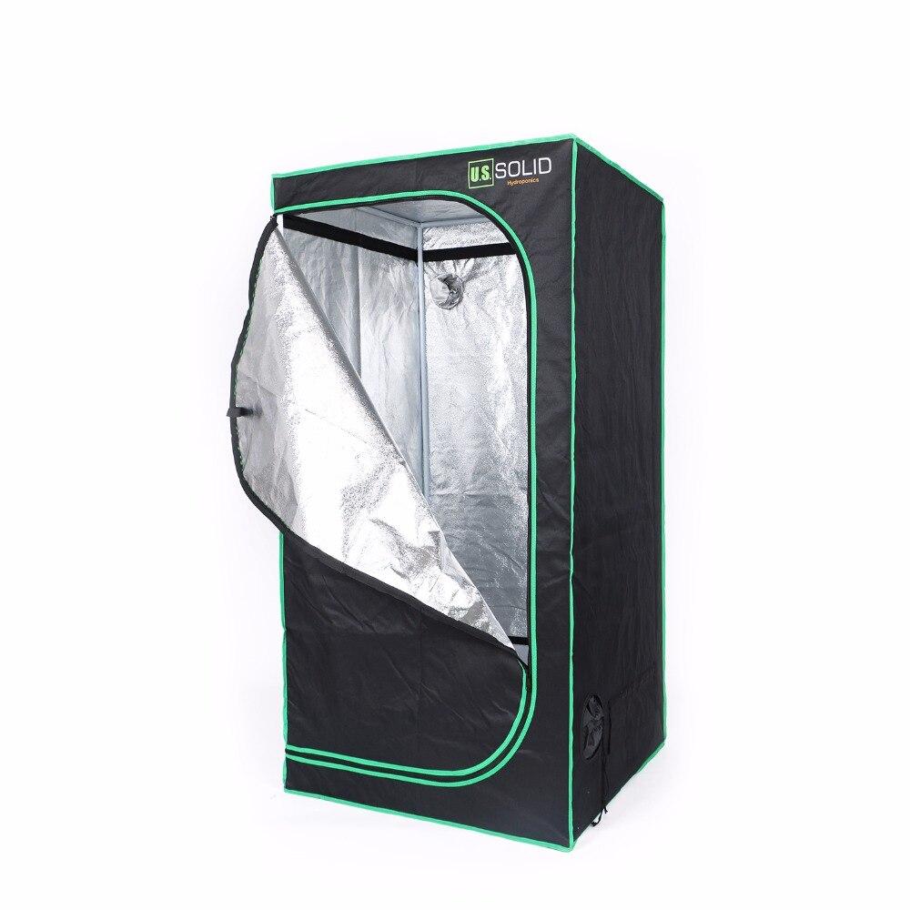 США твердый Расти Палатка 48x48x80 см гидропоники растут номер палатка с высокой прочностью Mylar ткани на подкладке и прочную молнию