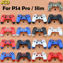 JCD plastik saplı shell kılıf kapak PS4 Pro Slim denetleyici JDS 040 muhafaza kapağı ön geri Shell kılıf