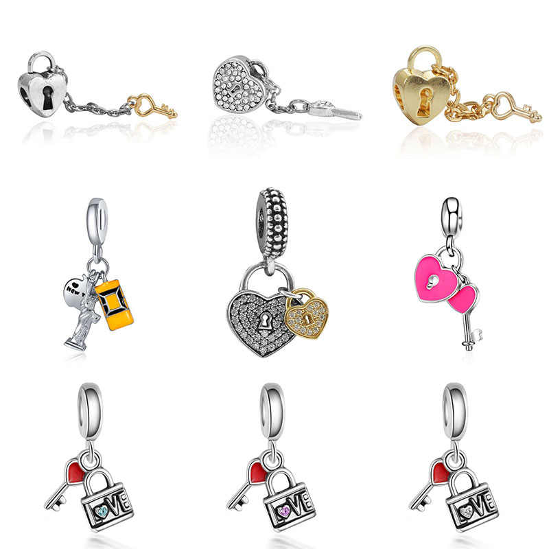charms silver 925 original bracelet jewelry valentine's day mary poppins bijoux sieraden boucle d'oreille femme bead