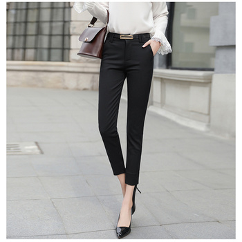 JUJULAND 2019 Pencil Casual Pants Women Autumn Spring pantalon femme Cuffed Office Lady Suit Trousers 53701