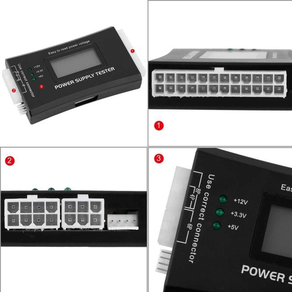 Wyświetlacz LCD PC Tester zasilania Tester diagnostyczny sprawdzanie 20/24 pin SATA HDD ATX BTX miernik do leptop pulpit Drop Shipping