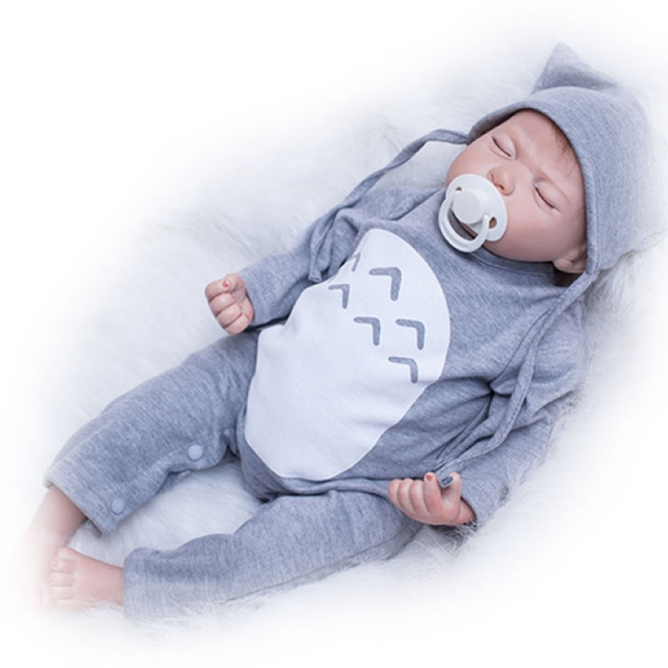 20 Close Eyes Reborn Baby Alive Dolls Cosplay Grey Mouse