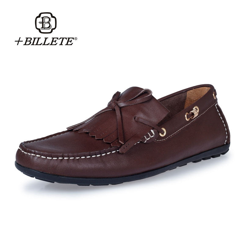 2017 New Billete Brand Fashion Summer Spring Men Driving Shoes Loafers Leather Boat Shoes Comfortable Male Casual Flats Loafers