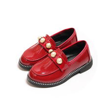 Spring Autumn New girls leather shoes baby Girls for students child Dance Wedding Party dress Shoes Rhinestones