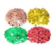 8-Season Christmas Happy Birthday Red Green Round Confetti Mixed Colors Wedding Engagement Bride to Party Table Decoration