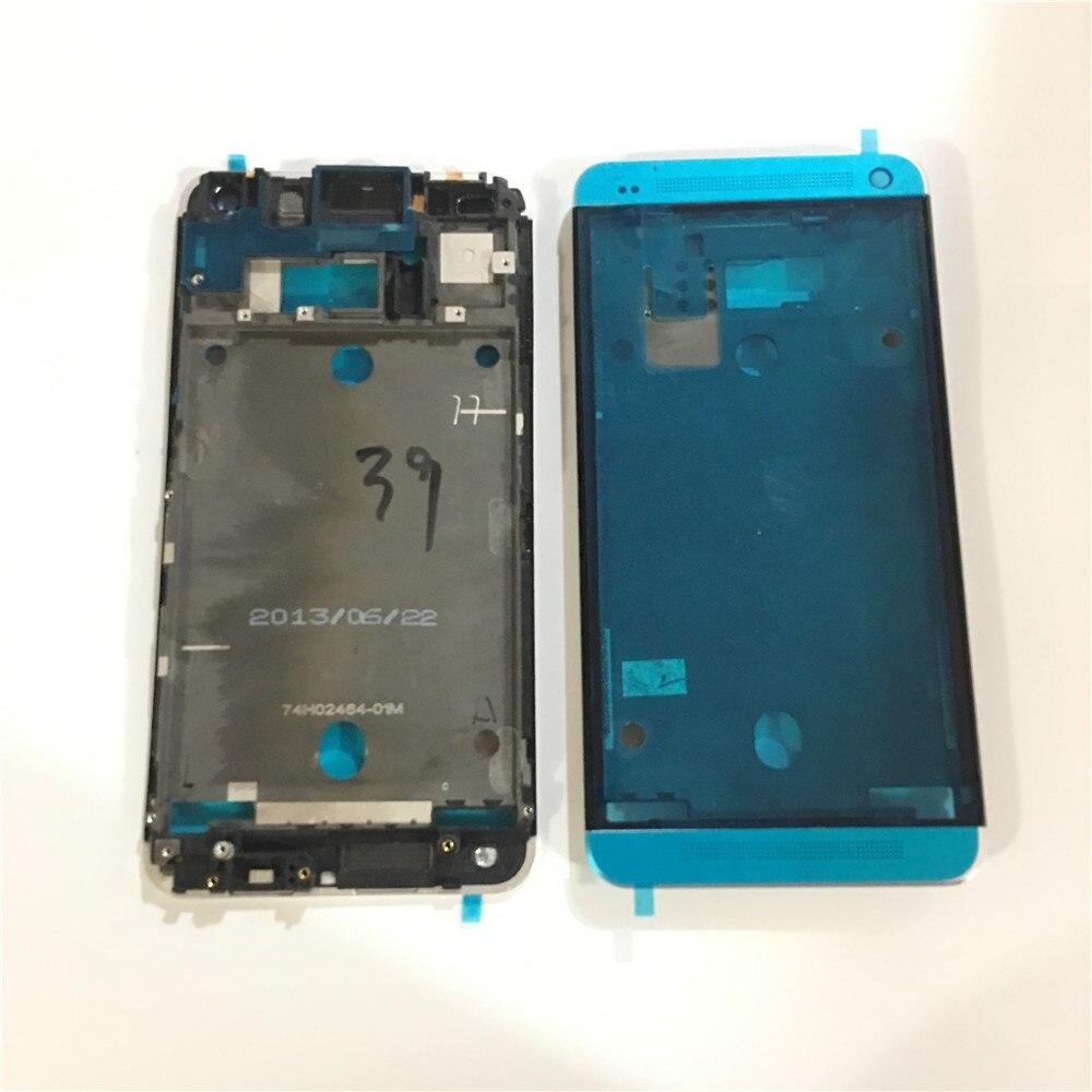 Nouveau Double Sim Carte Titulaire Lunette Logement Châssis Cadre Pièces De Rechange Pour HTC One M7 e802 Noir/Argent/rouge