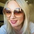 OLDWOLF Негабаритных Круглые Солнцезащитные Очки Женщины Сплава Вокруг Полой Фен Рамка Марка Дизайнер Мода Кружение Светоотражающие CL Солнцезащитные Очки