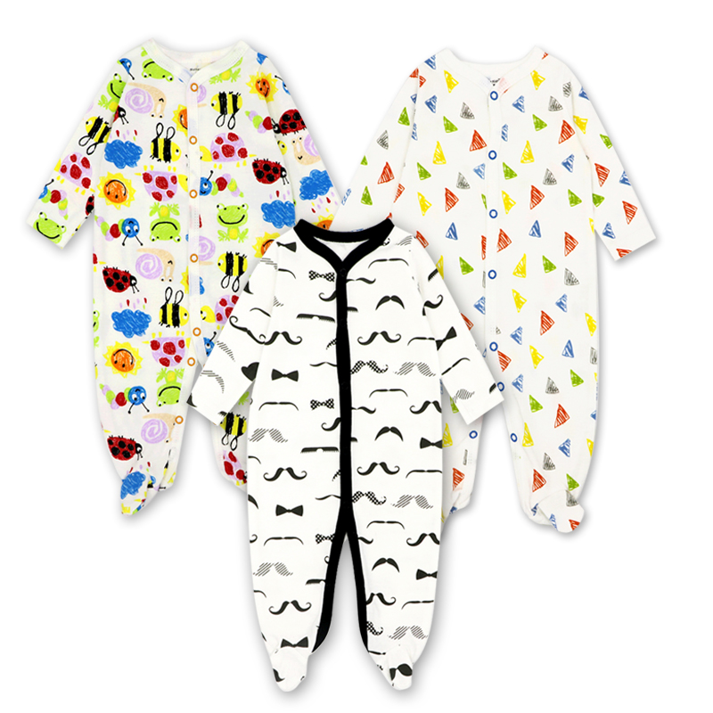 tender Babies 2/3Pcs/set Fashion Cotton baby   rompers   newborn girl clothes Long Sleeve Jumpsuit roupas infantis menino Overalls