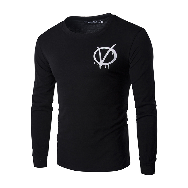 New Men V for Vendetta Printing Hoodies Black Hoodies Summer Spring Long Sleeves Top