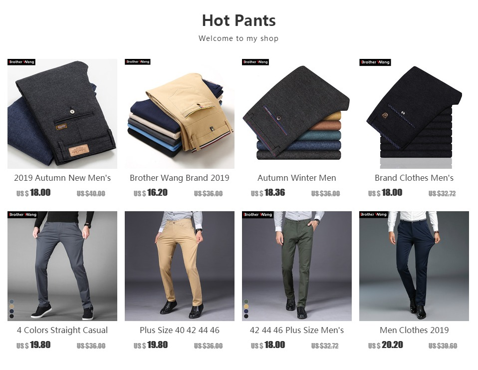 0c95b1f64b67 ... Pant Style  Straight  Waist Type  Mid  Material  Cotton  Decoration   None  Item Type  Full Length  Gender  Men. Product Description