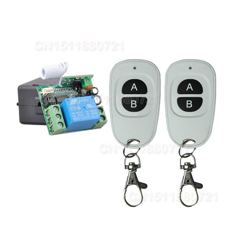 Nueva DC12V 1CH RF Control Remoto Inalámbrico Interruptor del Sistema Transmisor