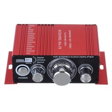 20w+20w New Red Stereo HiFi Amplifier 20Hz to 20KHz Aluminium Amplifiers MA-170 2CH AMP For Computer Desktop Speaker