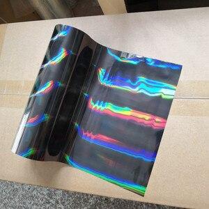 Image 1 - hot stamping foil holographic foil black oblique light beam pattern hot press on paper or plastic transfer foil