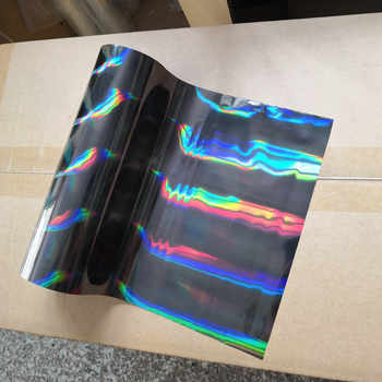 hot stamping foil holographic foil black oblique light beam pattern hot press on paper or plastic transfer foil - SALE ITEM - Category 🛒 Office & School Supplies